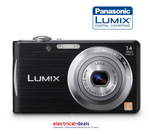 "Panasonic Lumix FS16 Digital Camera - Black (14.1MP, 4x Optical Zoom) 2.7"" LCD Preview"