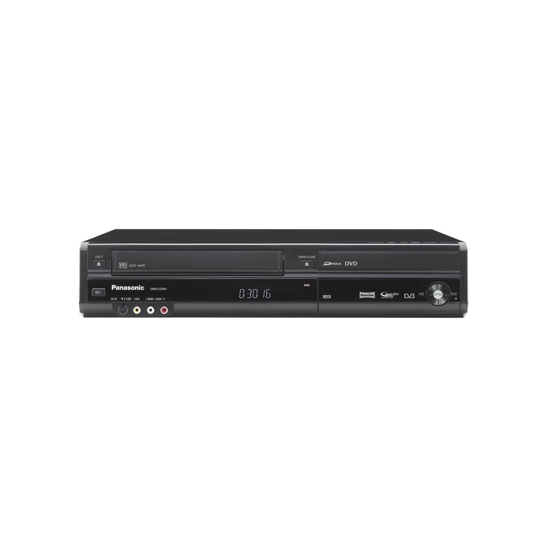 panasonic dmrez49 dvd recorder with digital tuner vhs vcr dmrez49vebk black. Black Bedroom Furniture Sets. Home Design Ideas