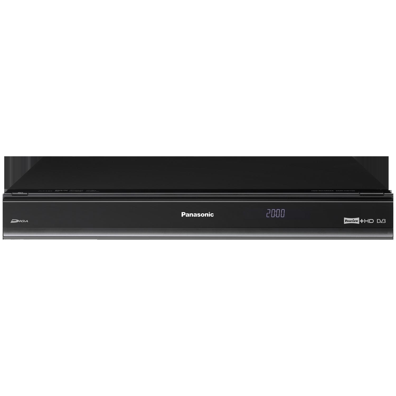 panasonic dmrhw100 twin freeview hd recorder box 320gb hard drive pvr black ebay. Black Bedroom Furniture Sets. Home Design Ideas