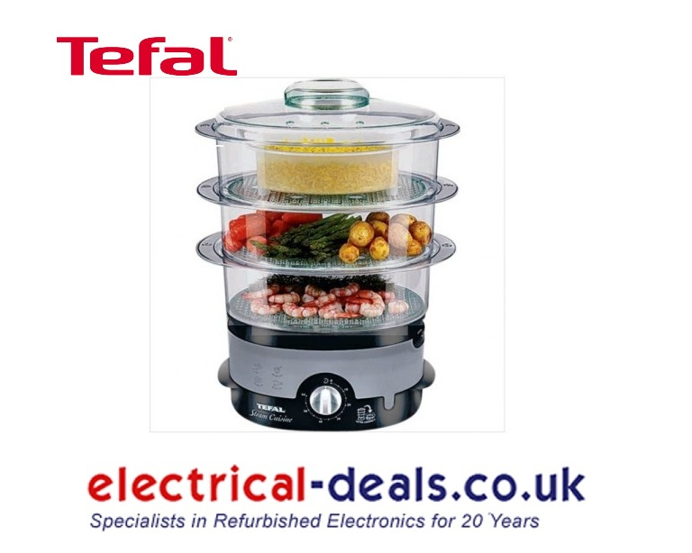 Tefal VC100715 3 Tier Ultra Compact Steamer 9 Litre Capacity Black  Enlarged Preview