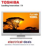 "View Item Toshiba 23DL934B Full HD 23"" LED TV with Built-in DVD Player, HDMI & USB. White."