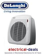 View Item DeLonghi Vertical Young HVY1030 Upright Fan Heater 2kW. 2 Heating Presets. White