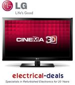 View Item LG 32LM3400 32 inch LED Cinema 3D TV. HD Ready with Freeview, USB & Dual Play.