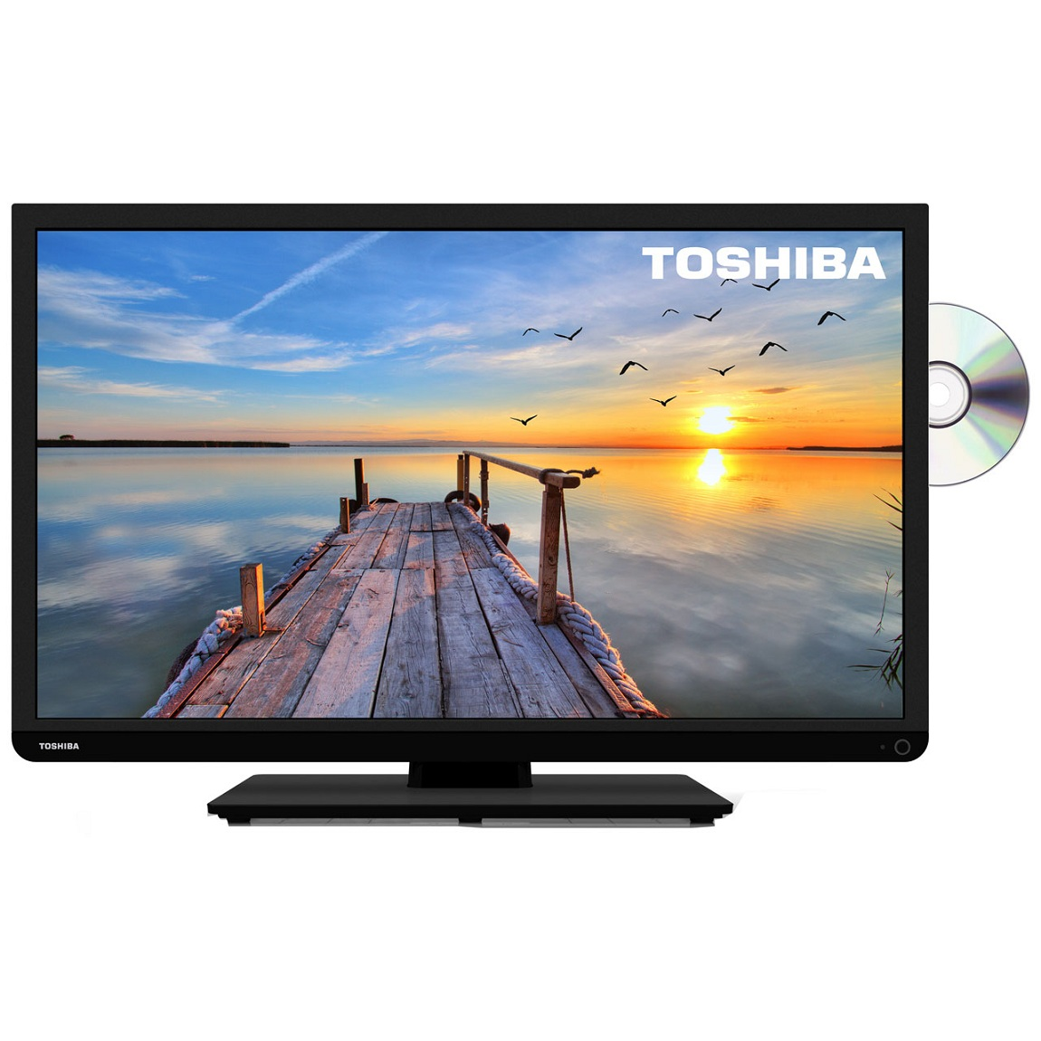 toshiba 32d1333db 32 inch hd ready led tv dvd combi built in freeview usb black ebay. Black Bedroom Furniture Sets. Home Design Ideas