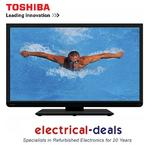 "View Item Toshiba 40L1333B 40"" LED Backlit TV. Full HD 1080p with Built-in Freeview & USB"