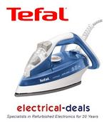 View Item Tefal FV4480 Iron. Ultraglide Soleplate. Vivid Blue Iron. 2300W. 270ml Capacity.