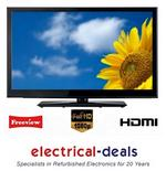 "View Item Electrotec 40"" LCD TV. Full HD 1080p. Built-in Freeview. 3 x HDMI & USB input."