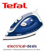 View Item Tefal FV3770 Steam Iron. 2300W. 30g/min Steam. 300ml Tank Capacity. Blue & White