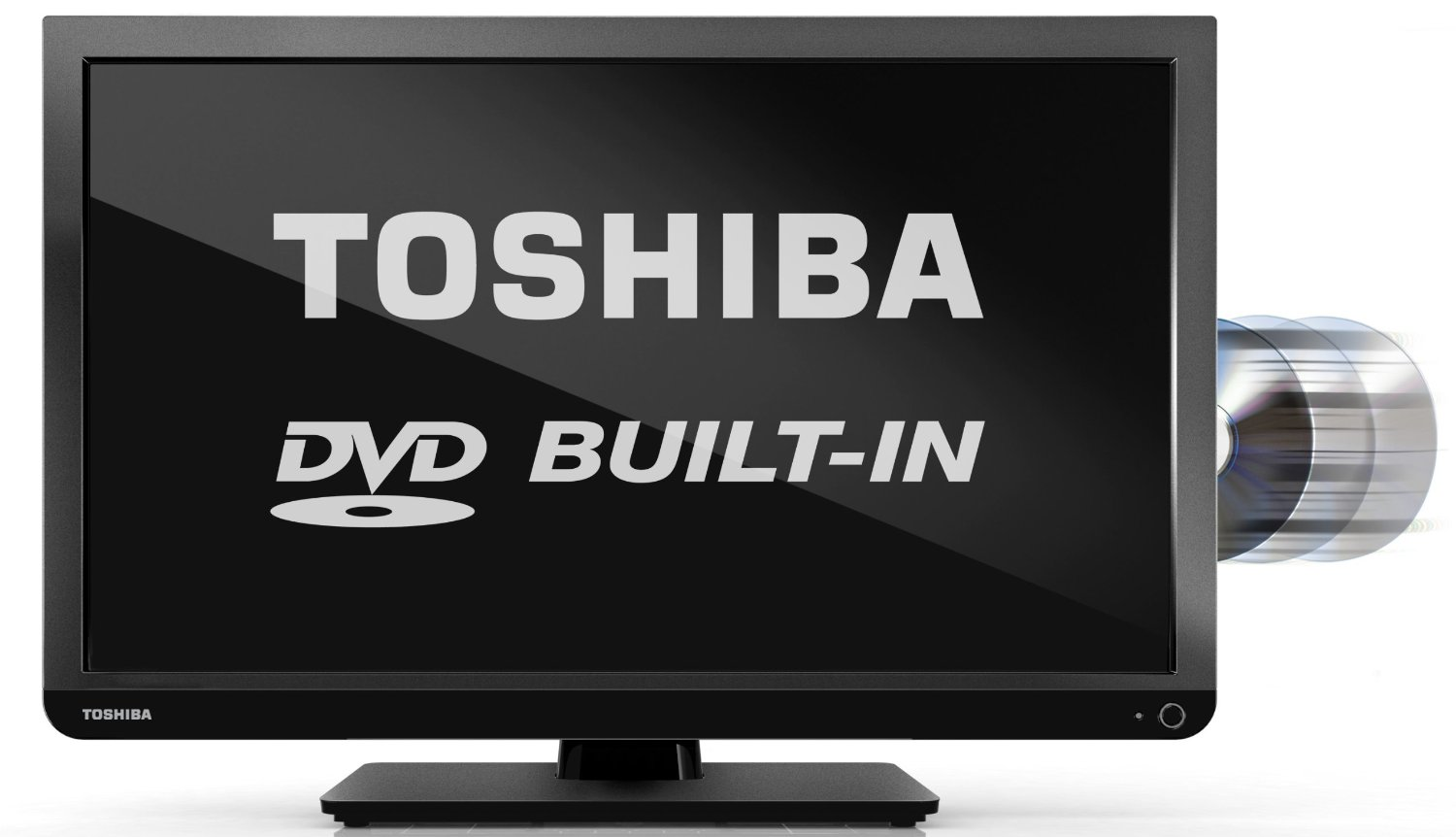 "Toshiba 24D1333B 24"" inch HD Ready LED TV with Built-In ...