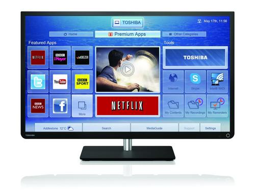 Toshiba 32W4333DB 32 inch SMART HD Ready LED TV Freeview USB Recording Black Preview