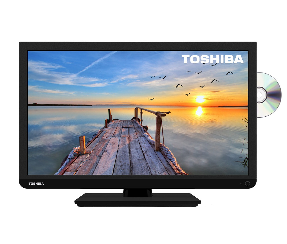 toshiba 24d1433db 24 inch hd ready led dvd tv combi built in freeview usb black ebay. Black Bedroom Furniture Sets. Home Design Ideas
