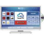 "View Item Toshiba 32D3454DB 32"" Smart HD Ready LED / DVD Combi with Freeview HD & Built-in WiFi - in White"