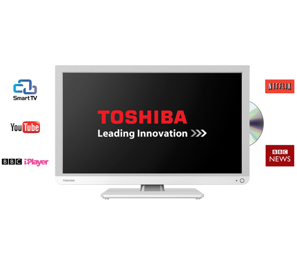 toshiba 24d3434db 24 inch smart hd ready led combi tv. Black Bedroom Furniture Sets. Home Design Ideas