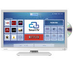 "View Item Toshiba 24D3434DB Smart 24"" LED LCD TV with Built-in DVD Player & WiFi Finished in White"