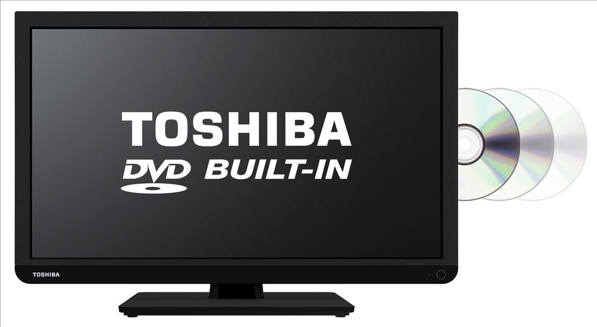 Toshiba 24D3433DB 24 inch SMART HD Ready LED TV DVD Combi ...