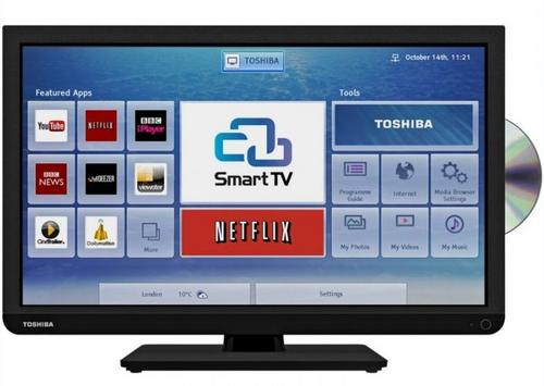 Toshiba 24d3433db 24 inch smart hd ready led tv dvd combi for Perfect kitchen pro smart scale and app system