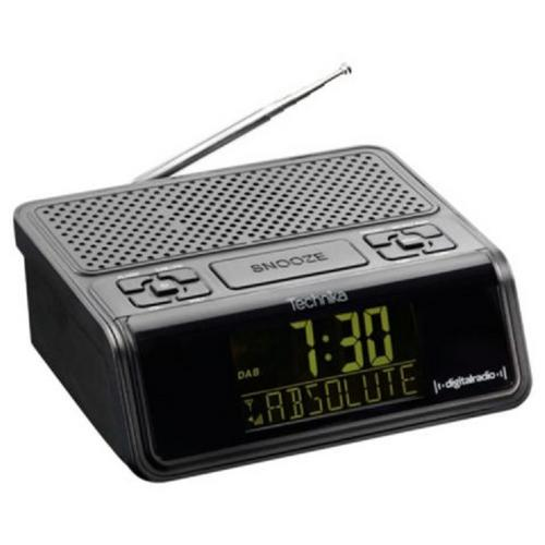 technika dcr1301 dab digital clock radio alarm clock with snooze button large led display. Black Bedroom Furniture Sets. Home Design Ideas
