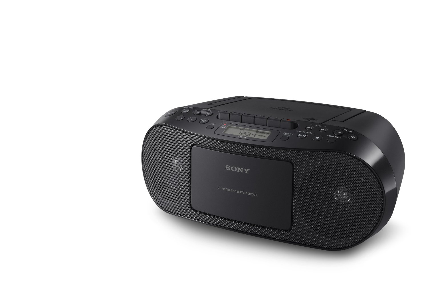 sony cfd s50 classic portable cd cassette player fm am. Black Bedroom Furniture Sets. Home Design Ideas