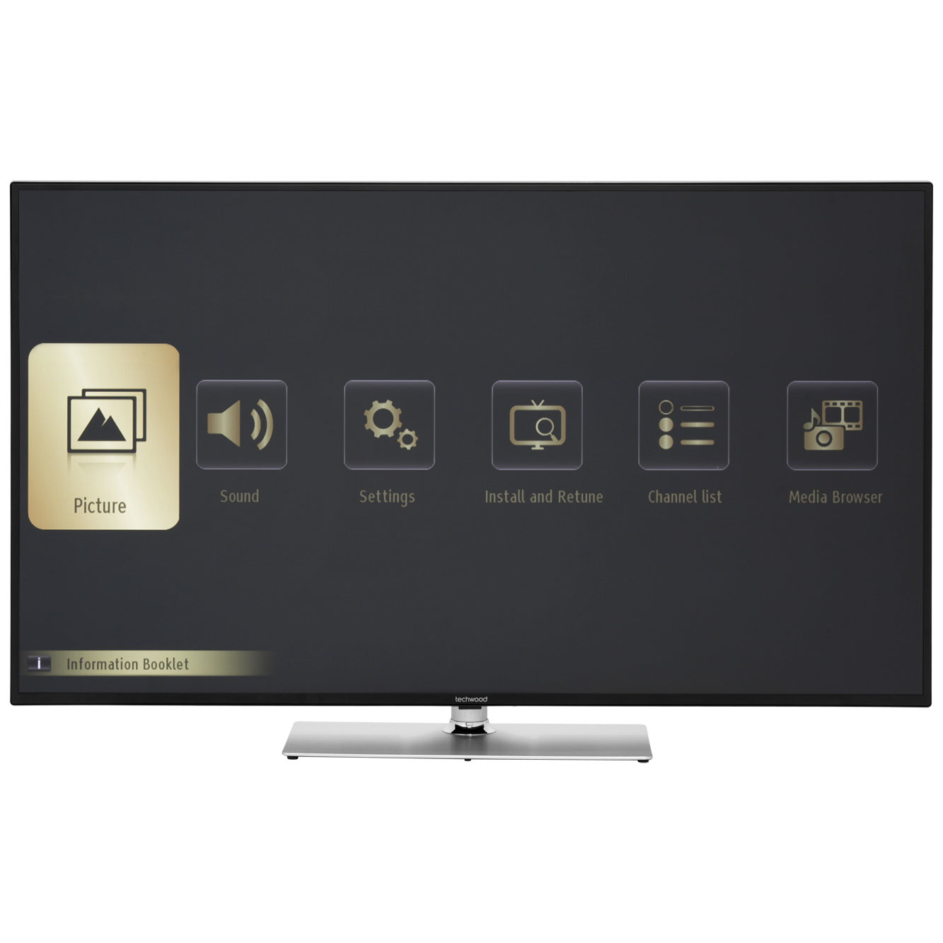 techwood 65a01sb smart full hd 1080p 65 led tv with freeview hd built in wifi ebay. Black Bedroom Furniture Sets. Home Design Ideas