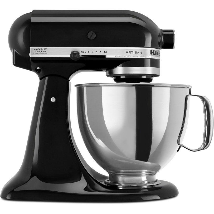 kitchenaid 5ksm150psbob litre artisan food mixer onyx black