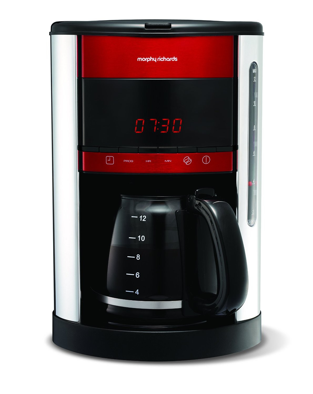 Morphy Richards Coffee Maker 47094 Instructions : Morphy Richards 162005 Digital Filter Coffee Maker Machine 12 Cup Capacity Red eBay