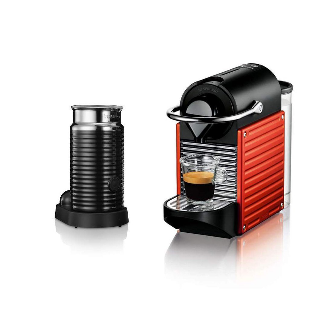 krups xn301540 nespresso 19 bar pixie red coffee machine ebay. Black Bedroom Furniture Sets. Home Design Ideas