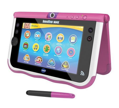 VTech InnoTab Max 7 Inch Kids Tablet Pink 8GB Memory Kid-Safe WiFi