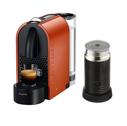 magimix nespresso u 11343 coffee machine 19 bar maker capsule aeroccino3 orange. Black Bedroom Furniture Sets. Home Design Ideas