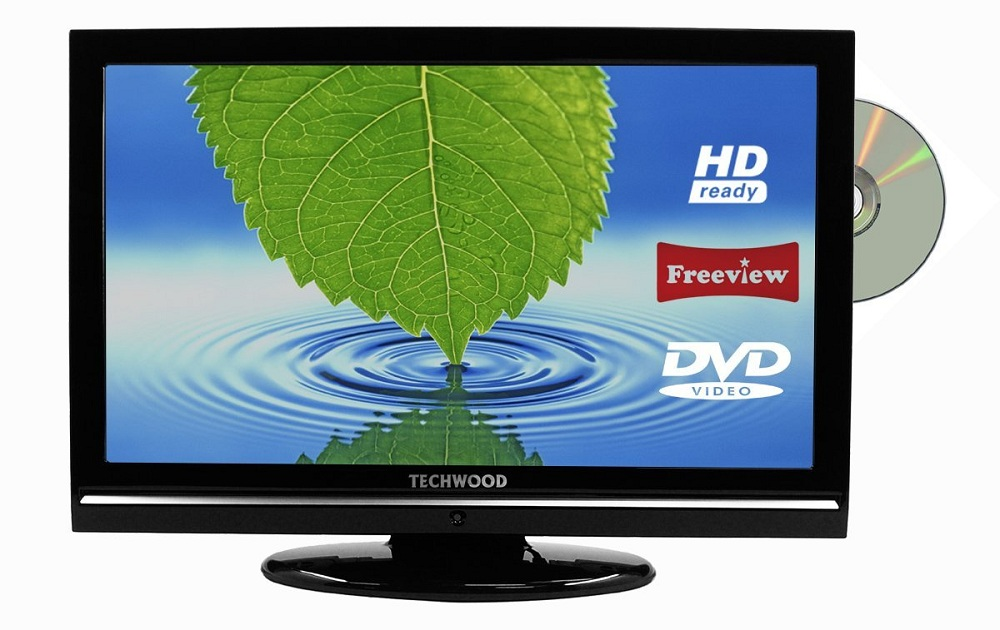 techwood 22884hddvd 22 inch hd ready lcd tv dvd combi built in freeview 5060234040239 ebay. Black Bedroom Furniture Sets. Home Design Ideas