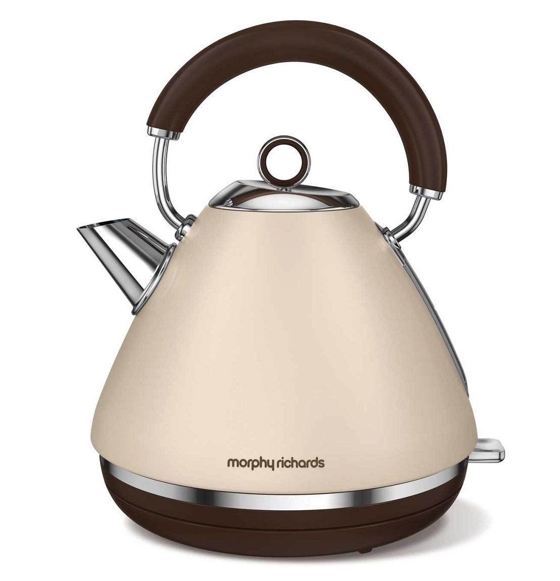 Morphy Richards Kettle: Morphy Richards 102101 Accents Special Edition Kettle 1.5 Litre Rapid Boil Sand