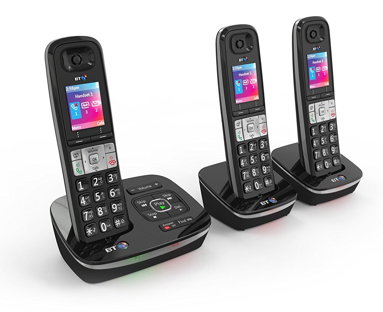 bt 8500 trio cordless dect home phone built in answer. Black Bedroom Furniture Sets. Home Design Ideas