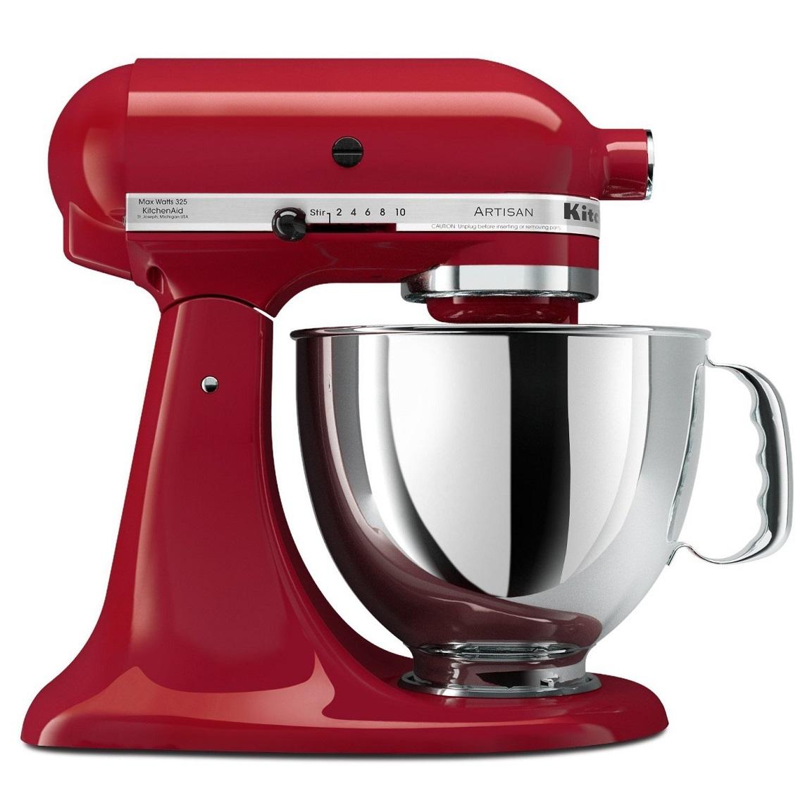 kitchenaid 5ksm150psber artisan stand mixer 4 8 litre bowl tilt head