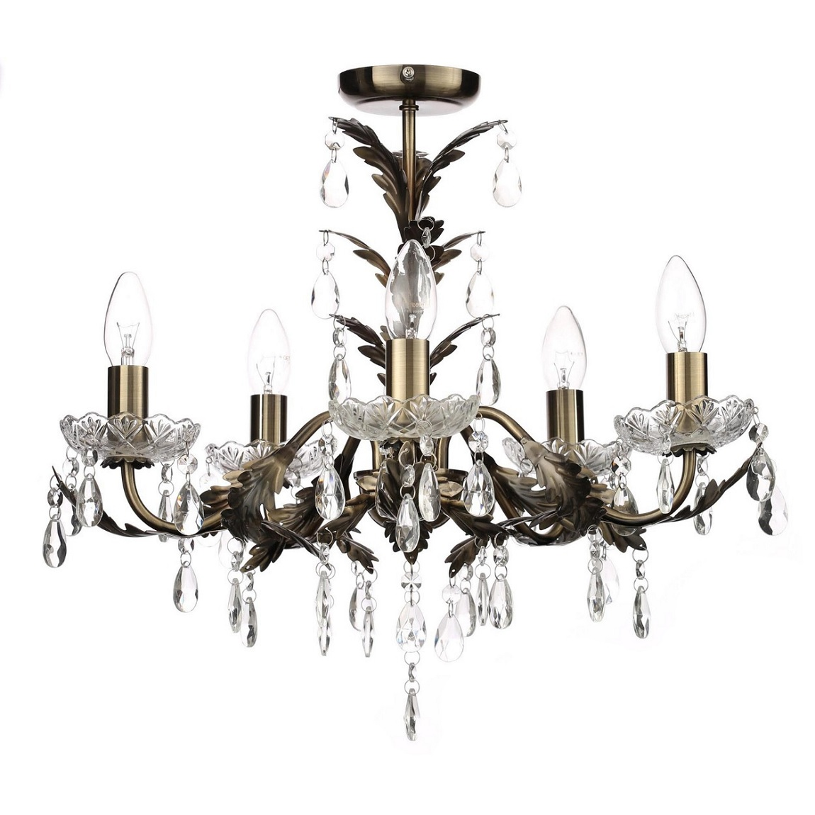 Debenhams Home Collection 'Paisley' Flush Chandelier