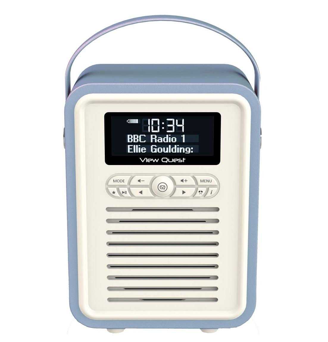 view quest retro mini portable dab fm digital radio built. Black Bedroom Furniture Sets. Home Design Ideas