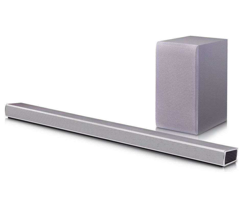 lg sh5 2 1ch 320w home cinema soundbar wireless subwoofer bluetooth silver ebay. Black Bedroom Furniture Sets. Home Design Ideas