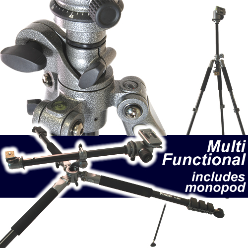 Fancier Professional Ball Head Camera Tripod 8kg load Multi Angle with Monopod Enlarged Preview