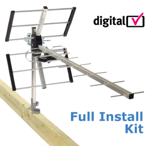 New Digital High Gain Freeview Wideband TV Aerial Kit Enlarged Preview