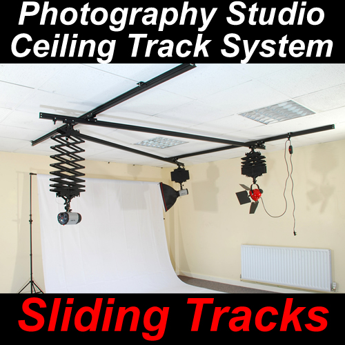 Studio Lighting Rail System: Photographic Photo Studio Lighting Ceiling Track System