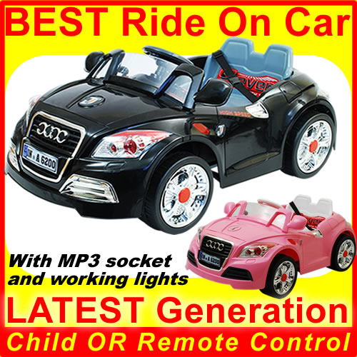 New 2012 RC 12V Twin Motors Ride on Audi TT Kids Car Remote Control Enlarged Preview