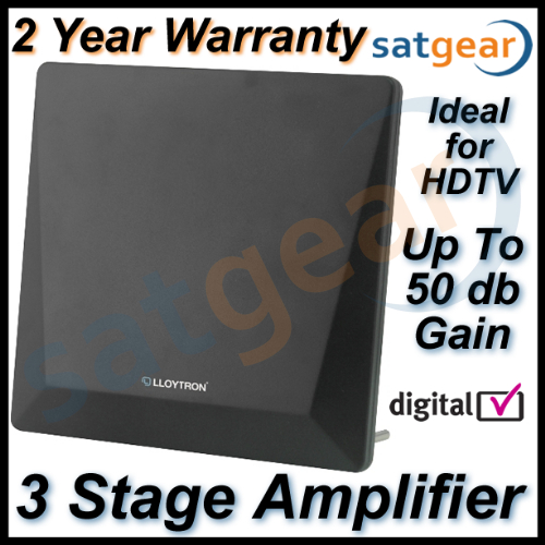 Satgear HD High Gain Digital TV Aerial Amplified Indoor Digital Antenna Freeview Enlarged Preview