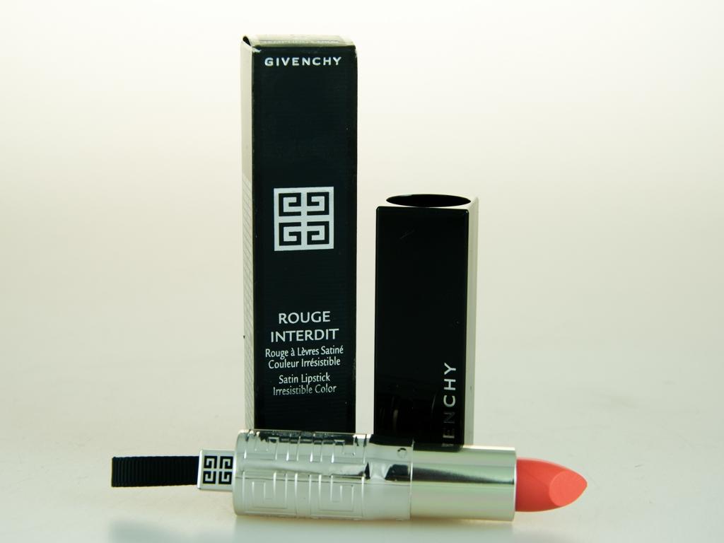 Givenchy rouge interdit satin lipstick 13 tempting coral ebay for Givenchy rouge miroir lipstick