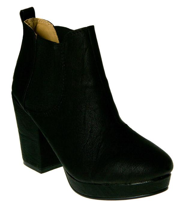 New-Black-Chunky-Heel-Chelsea-Boots