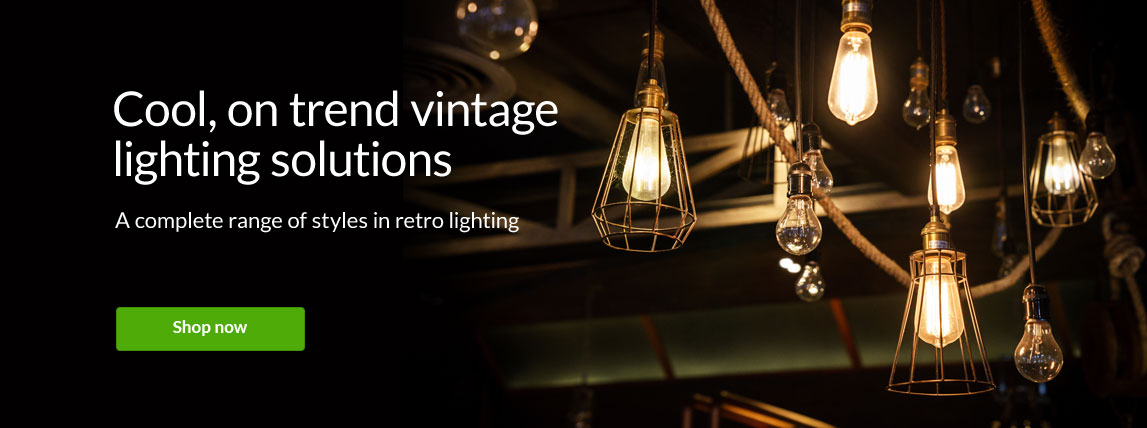 Cool, on trend vintage lighting solutions