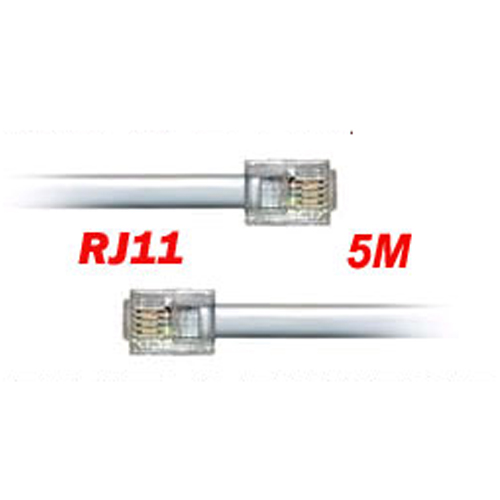 rj11 male bt broadband adsl modem router cable lead 5m uk ebay. Black Bedroom Furniture Sets. Home Design Ideas
