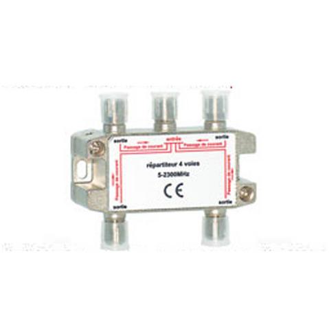 View Item 4 Way Satellite Splitter F Connection Socket NTL