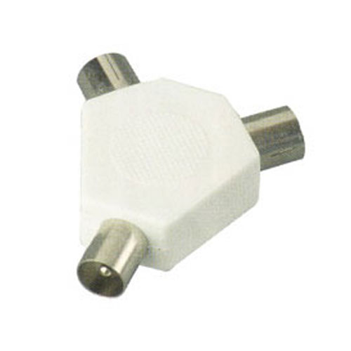 Coaxial Cable Splitter : Rf coaxial tv television aerial way splitter adapter uk