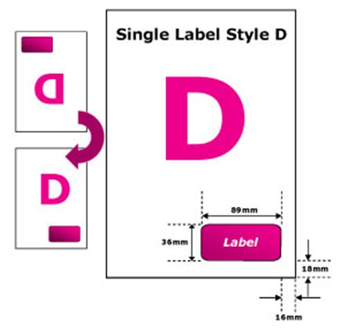 Integrated Standard Single Sticker Paper Label 1000 A4 Enlarged Preview