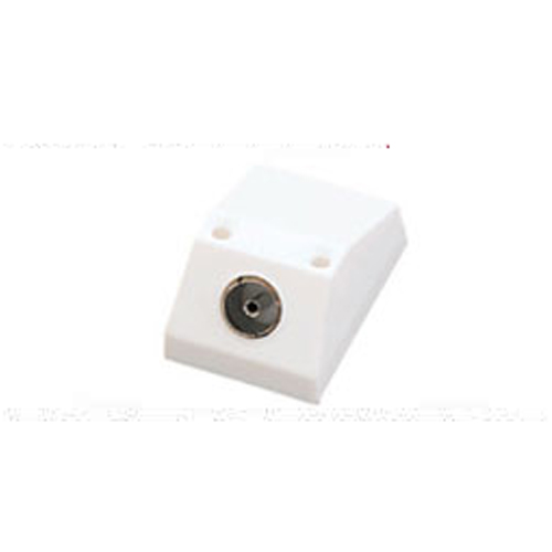 Coaxial Wall Mount : Single coaxial outlet tv aerial plug socket wall mount ebay