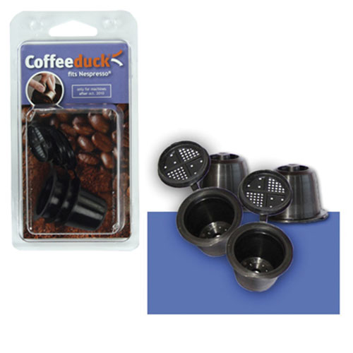 New Coffeeduck Refillable Capsules For Nespresso Coffee Machines after Oct 2010 Enlarged Preview