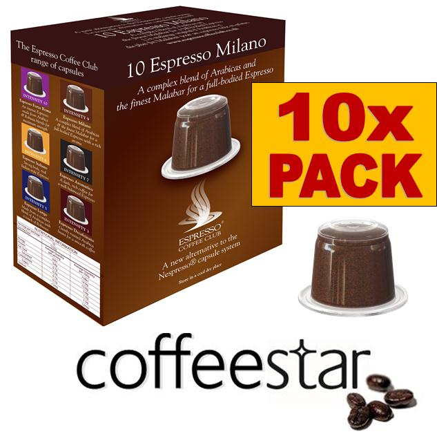 10 x nespresso compatible coffee capsules pods espresso. Black Bedroom Furniture Sets. Home Design Ideas